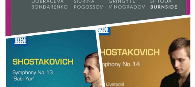 New Release CDs-Shostakovich No.13&14, Rachmaninov-Songs