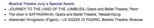 ファウストの劫罰@ボリショイ劇場&Congratulations on Golden Mask Award :)))