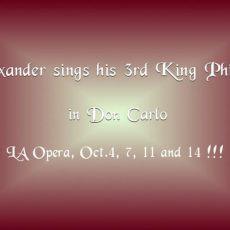 181004-1014 Don Carlo – Philippo ll @ LA Opera
