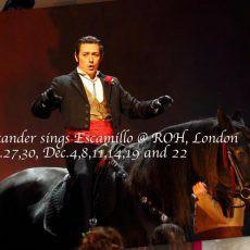 181127-1222 Carmen – Escamillo @ Royal Opera House
