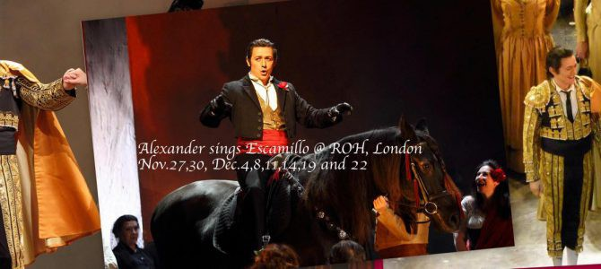 181127-1222 Carmen – Escamillo @ Royal Opera House
